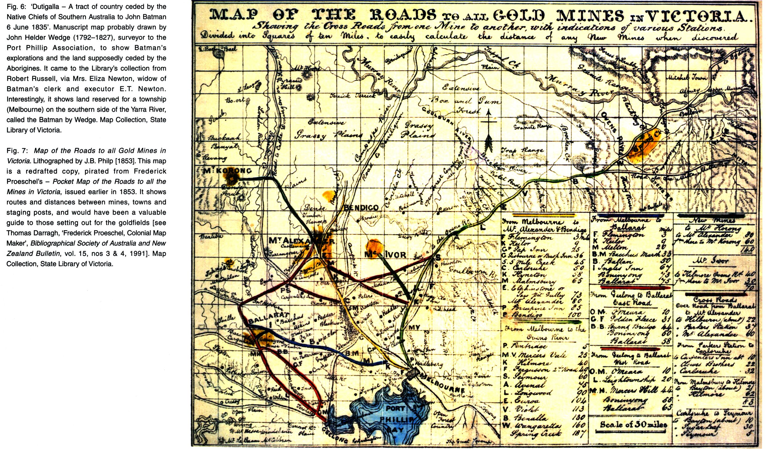 Fig Map Of The Roads To All Gold Mines In Victoria - Map of victoria australia with towns