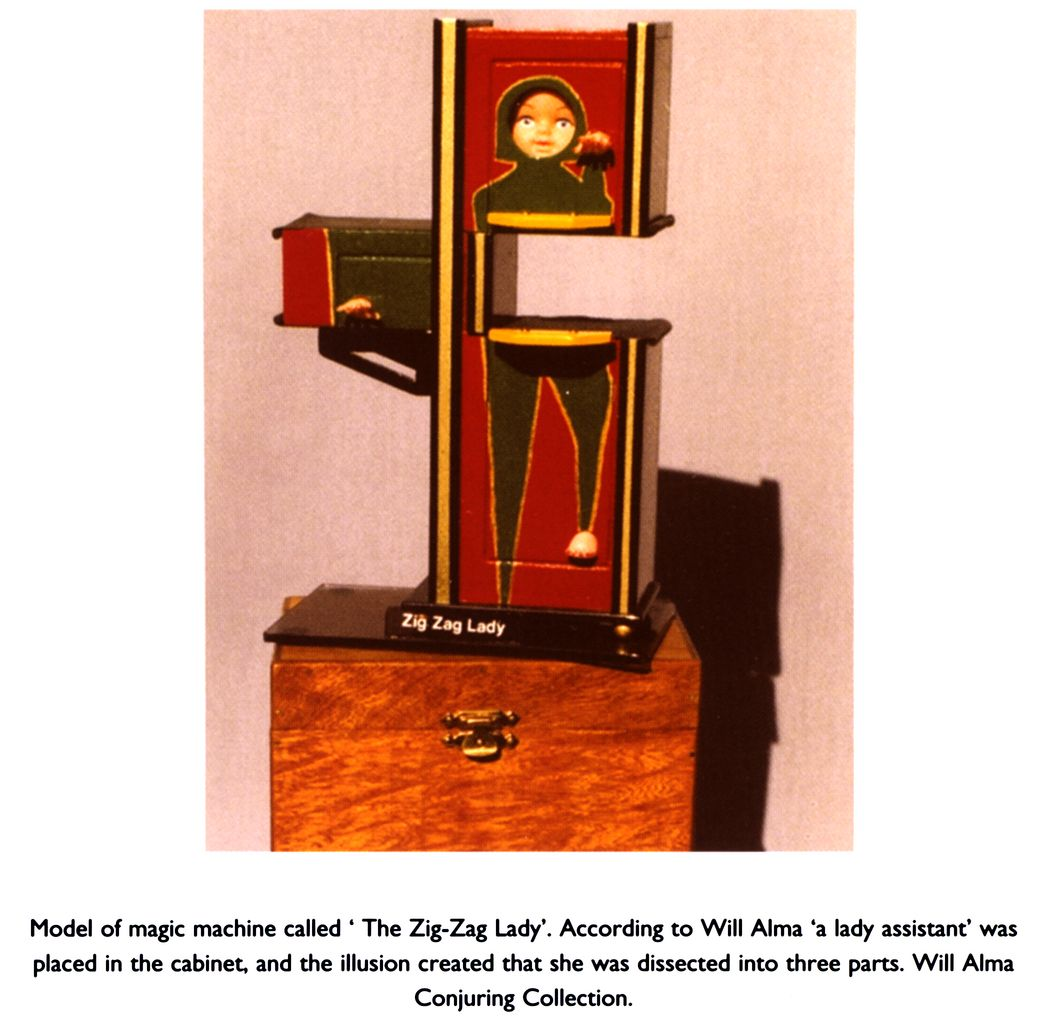 Beau Model Of Magic Machine Called U0027The Zig Zag Ladyu0027. According To Will Alma U0027a  Lady Assistantu0027 Was Placed In The Cabinet, And The Illusion Created That  She Was ...