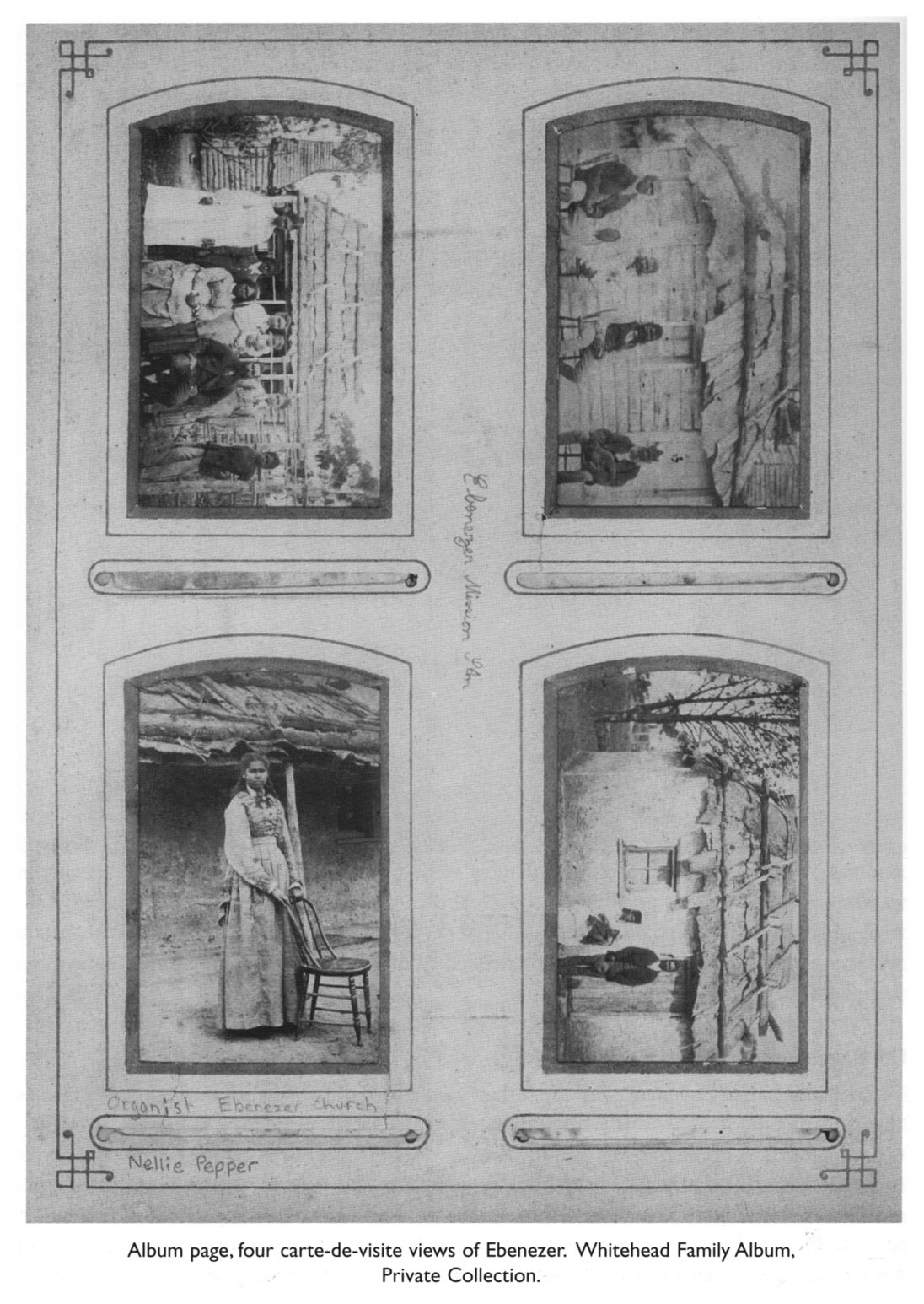 Album Page Four Carte De Visite Views Of Ebenezer Whitehead Family
