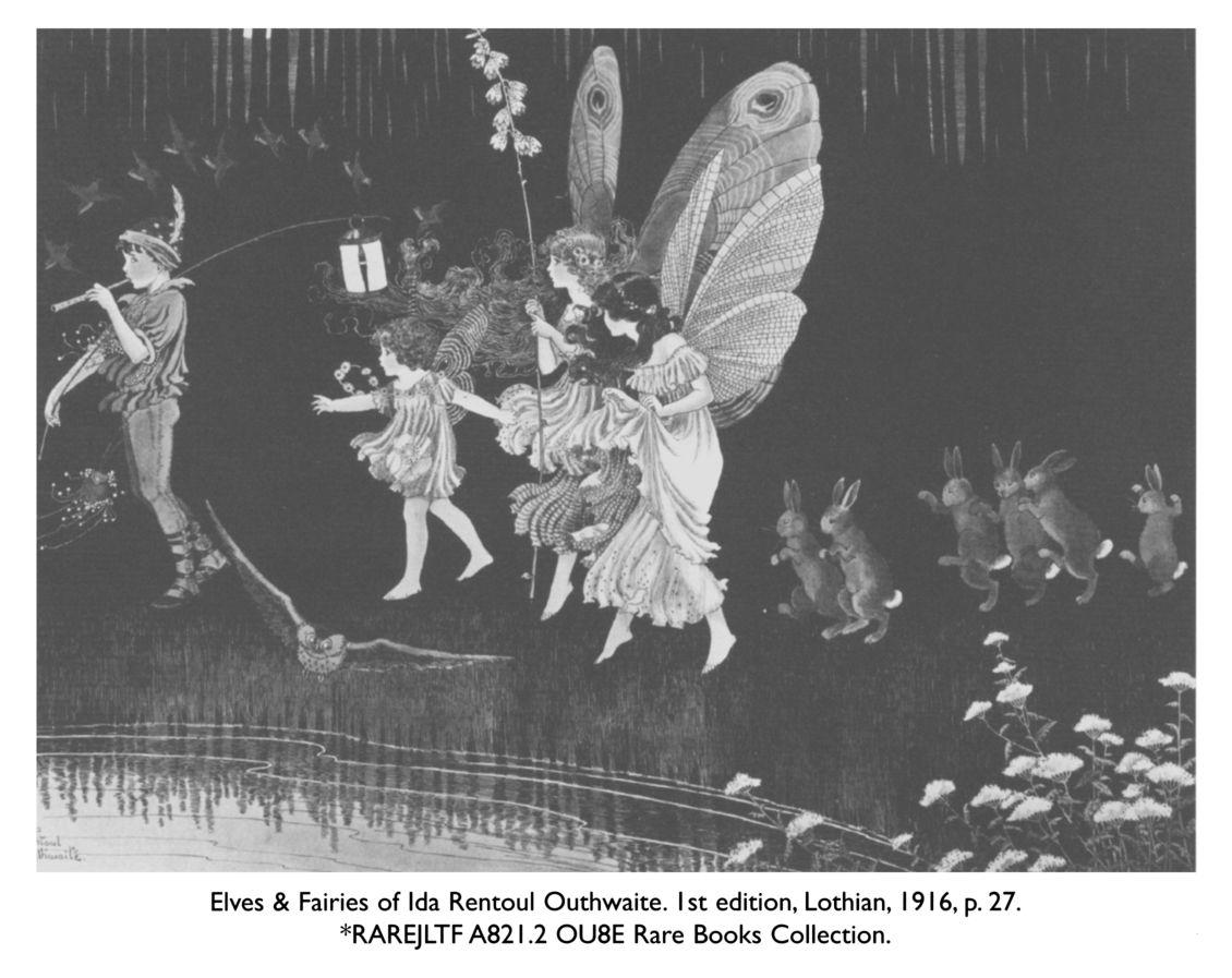 elves fairies of ida rentoul outhwaite 1st edition lothian 1916